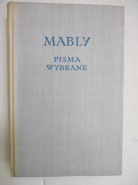 de Mably Gabriel Bonnot - Pisma wybrane