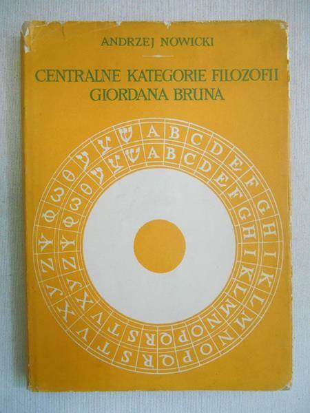 Nowicki Andrzej - Centralne kategorie filozofii Giordana Burna