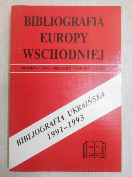 Arkusza Helena - Bibliografia Europy Wschodniej. Bibliografia ukraińska 1991-1993