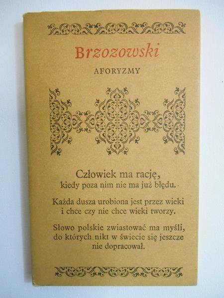 Brzozowski Stanisław - Aforyzmy