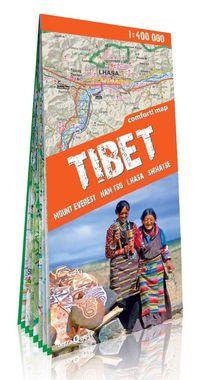 Tybet Mount Everest Nam tso Lhasa Shigatse mapa południowej części Tybetu 1:400 000, Nowa