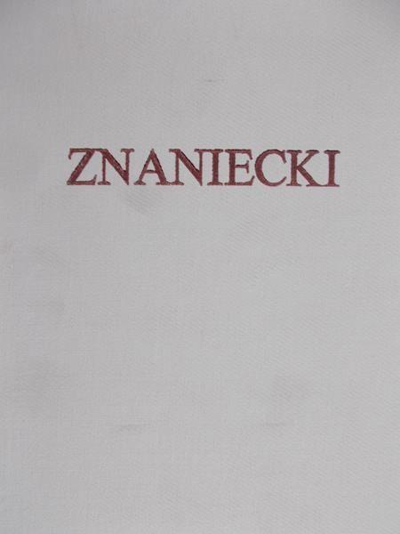 Znaniecki Florian - Pisma filozoficzne, Tom II