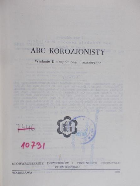 Moliński Stanisław - ABC korozjonisty