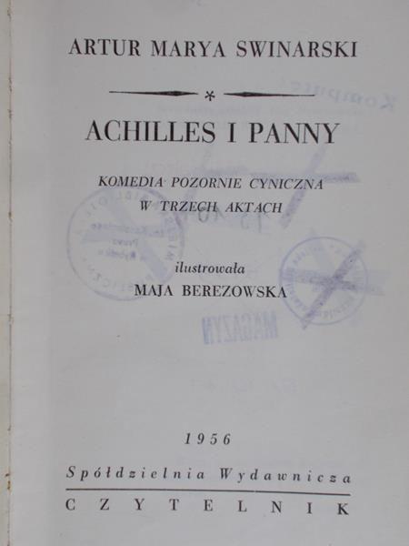 Swinarski Artur Marya - Achilles i Panny