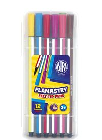 Flamastry heksagonalne 12 kolorów