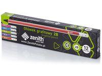Ołówek grafitowy Zenith 2B 12 sztuk