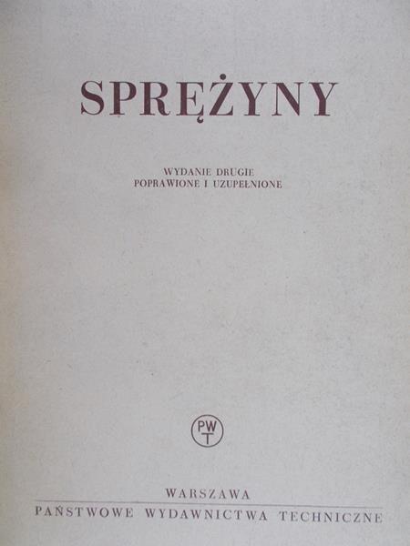 Żukowski Stefan - Sprężyny