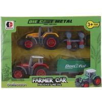 Traktor metalowy zestaw 2 sztuki
