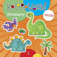 Kolorowanki z naklejkami Dinozaury