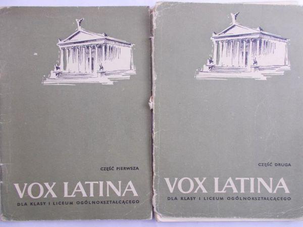 Steffen Wiktor Vox Latina dla klasy i liceum ogólnokształcącego Część pierwsza/ Część druga