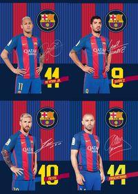 Zeszyt A5 w linie 32 kartki FC Barcelona 10 sztuk mix