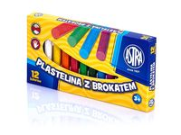 Plastelina z brokatem 12 kolorów