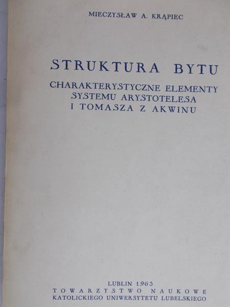 Krąpiec A. Mieczysław - Struktura bytu