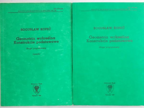 Kopeć Bogusław - Geometria wykreślna konstrukcje podstawowe / Geometria wykreślna rysunki