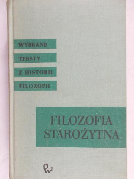 Legowicz Jan - Filozofia starożytna Grecji i Rzymu