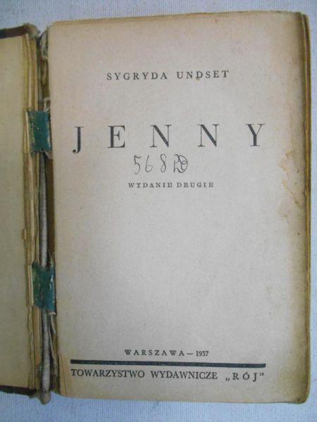 Undset Sygryda - Jenny, 1937 r.