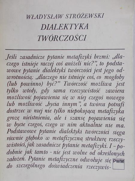 Stróżewski Władysław - Dialektyka twórczości