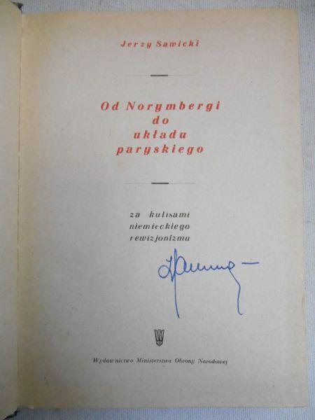 Sawicki Jerzy  - Od Norymbergi do układu paryskiego