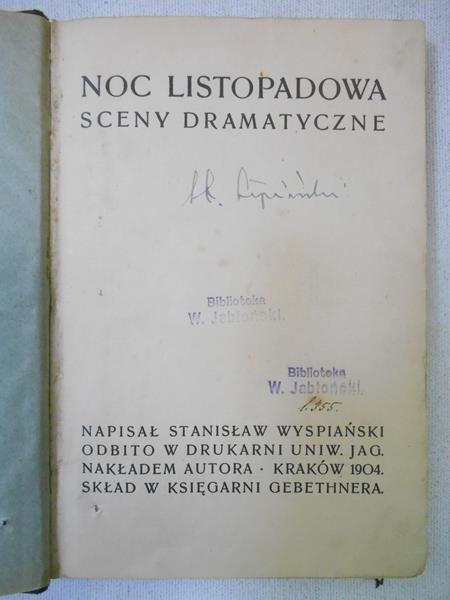 Wyspiański Stanisław - Noc listopadowa, 1904 r.