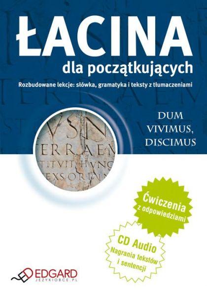 Łacina dla początkujących - Książka + CD Audio, Nowa
