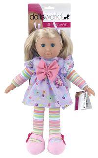 Lalka bobas 36cm Lucy z miękkiego materiału fioletowa
