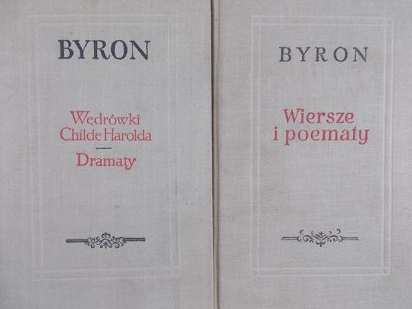 Byron Wiersze I Poematy Wędrówki Childe Harolda Dramaty