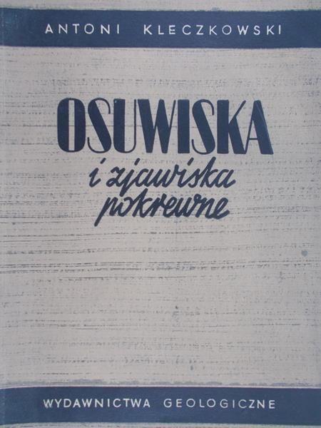 Kleczkowski Antoni - Osuwiska i zjawiska pokrewne