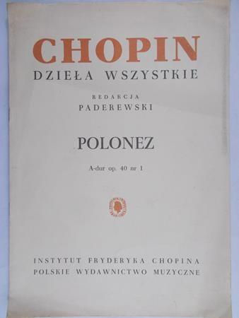 Paderewski I. J. - Fryderyk Chopin dzieła wszystkie. Polonez