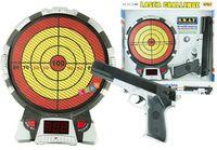 Pistolet laserowy z tarczą wyświetlacz światła