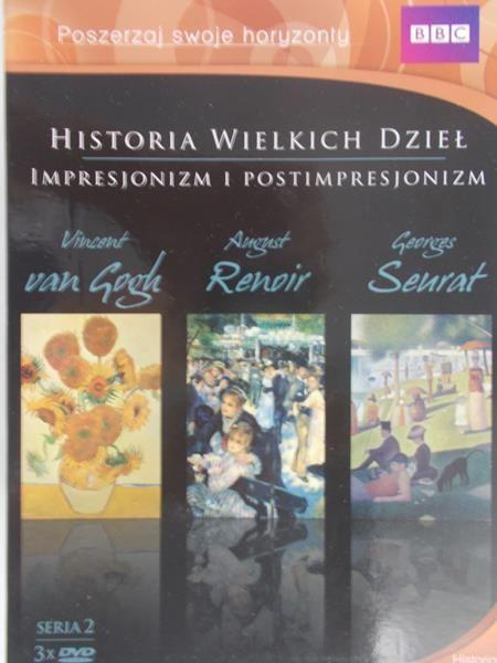 Lucie Donahue - Historia wielkich dzieł - Vincent van Gogh, Auguste Renoir, Georges Seurat 3 płyty DVD