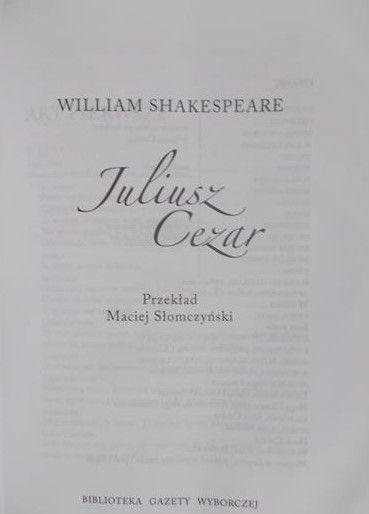 Shakespeare William - Juliusz Cezar + Płyta DVD