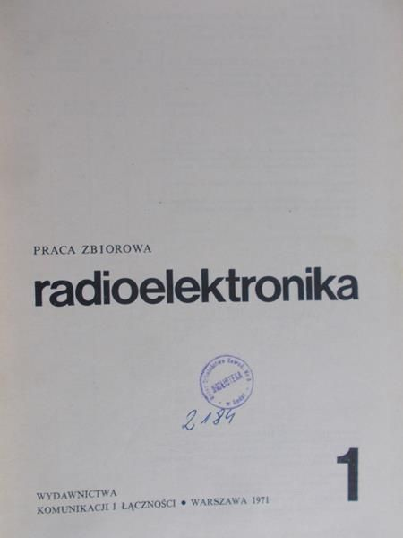 Niemcewicz Leonard  - Radioelektronika