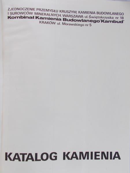 Obrzut Aleksander (red.) - Katalog kamienia