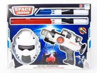 Zestaw maska pistolet + 2 miecze 50x39 cm światło/dźwięk