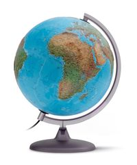 Podświetlany globus 3D fizyczno-polityczny