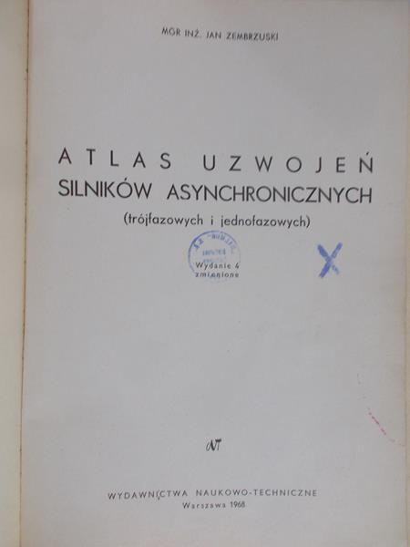 Zembrzuski Jan - Atlas uzwojeń silników asynchronicznych