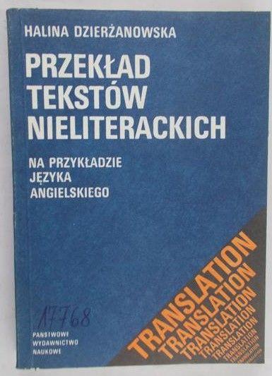 Dzierżanowska Halina - Przekład tekstów nieliterackich