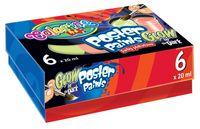 Farby plakatowe Colorino Kids Glow 6 kolorów