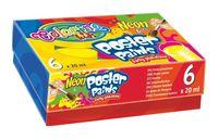 Farby plakatowe Colorino Kids Neon 6 kolorów