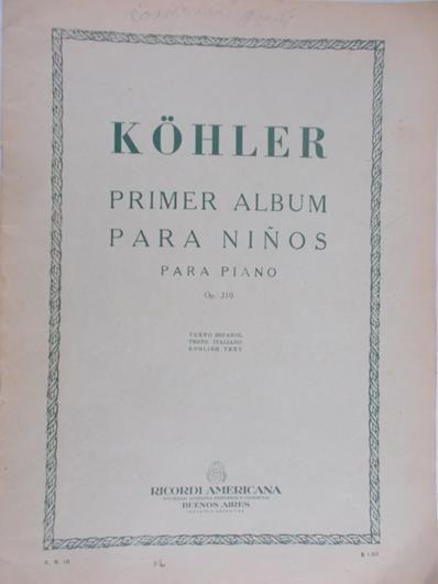 Kohler L. - Primer Album Para Ninos para piano