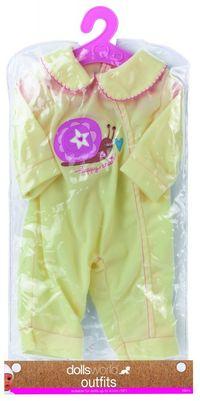 Ubranko Deluxe Fashion Boutique dla lalek do 41cm żółte ze ślimakiem