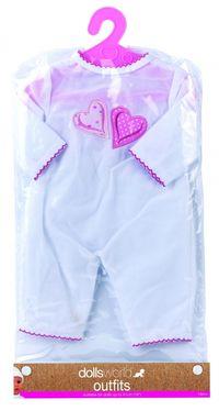 Ubranko Deluxe Fashion Boutique dla lalek do 41cm białe z serduszkiem