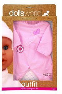 Ubranko Deluxe Fashion Boutique dla lalek do 46cm różowe z serduszkiem