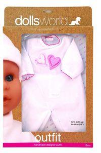 Ubranko Deluxe Fashion Boutique dla lalek do 46cm białe z serduszkiem