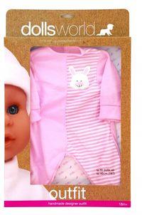 Ubranko Deluxe Fashion Boutique dla lalek do 46cm różowe z króliczkiem