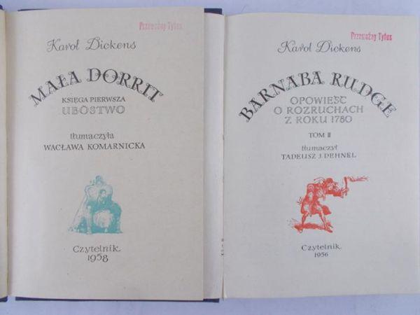 Dickens Karol - Mała Dorrit, t. I/ Barnaba Rudge t. II