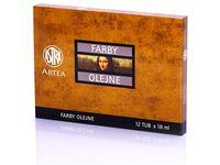 Farby olejne Artea 12 kolorów 18 ml Zestaw 2