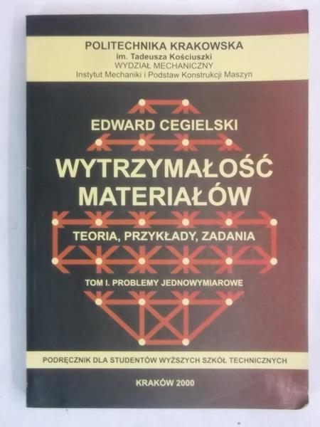 Cegielski Edward - Wytrzymałość materiałów