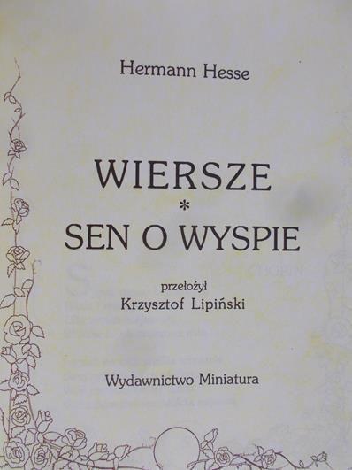 Hesse Hermann Wiersze Sen O Wyspie Hermann Hesse