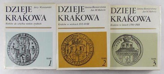 Wyrozumski  Jerzy - Dzieje Krakowa Tom I – III